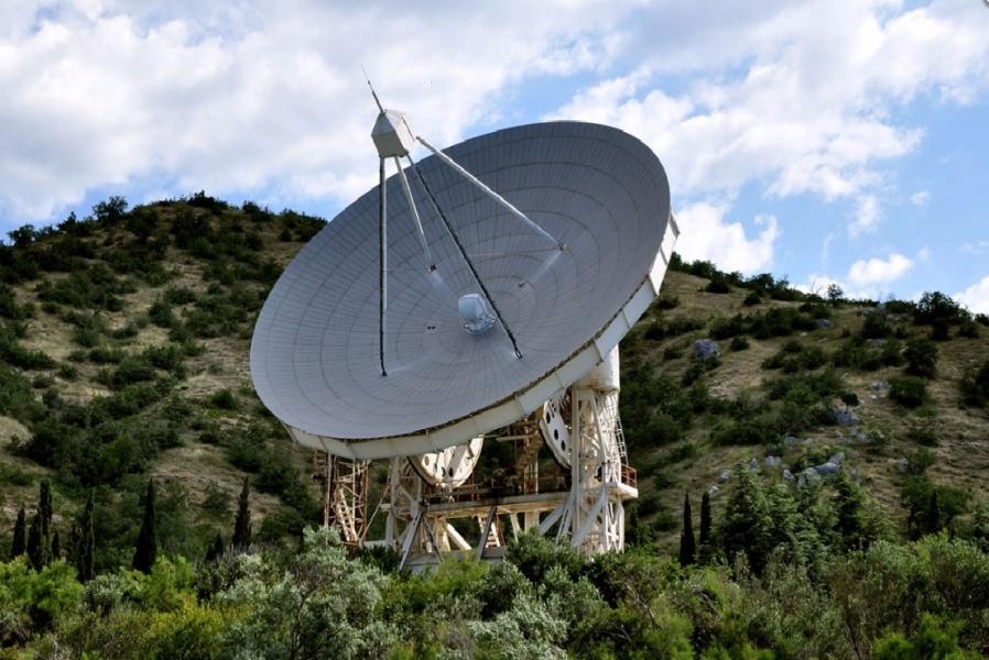 Бывший радиотелескоп ОКБ МЭИ