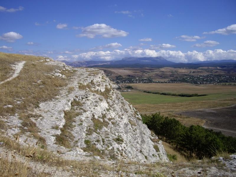 Обрыв на юге Симферополя