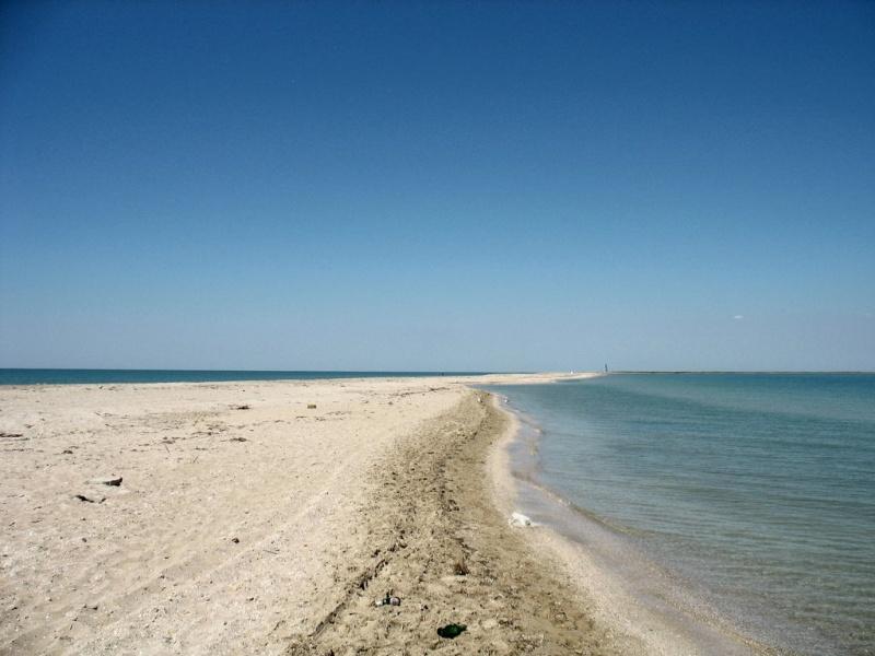 Пляж на Бакальской косе